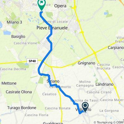 Da Via Sandro Pertini 19, Vidigulfo a Via Lazio 4, Pieve Emanuele
