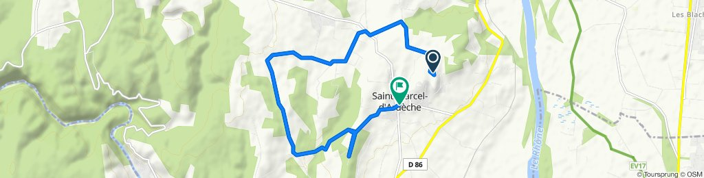 Itinéraire modéré en Saint-Marcel-d'Ardèche