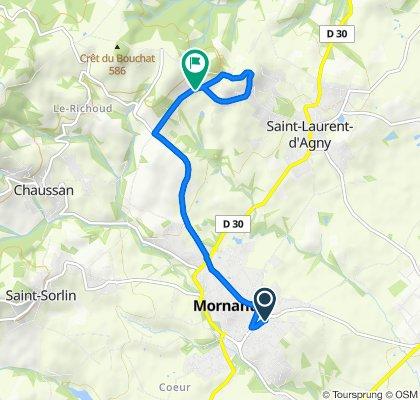Itinéraire modéré en Mornant