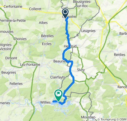 Itinéraire modéré en Eppe-Sauvage