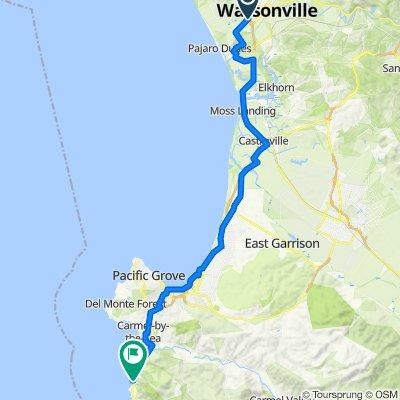 1620 W Beach St, Watsonville to 155 Highlands Dr, Big Sur