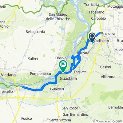 Da Via P. Borsellino 33, Suzzara a Via Lido Po, Guastalla
