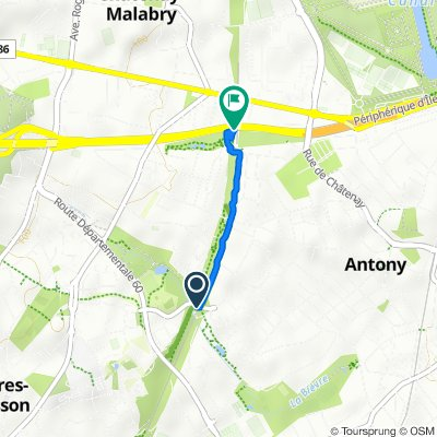 Relaxed route in Châtenay-Malabry