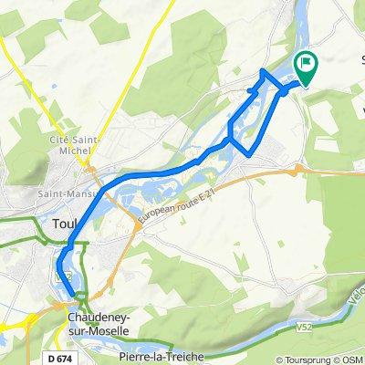 Itinéraire à grande vitesse en Fontenoy-sur-Moselle