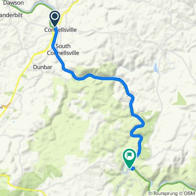 259 N Sixth St, Connellsville to Lincoln St, Ohiopyle