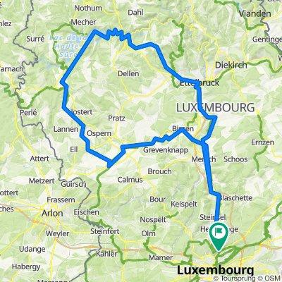 Route from Rue Chingiz T. Aitmatov 9, Luxembourg