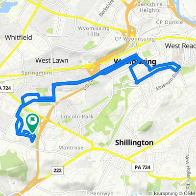 Moderate route in Reading