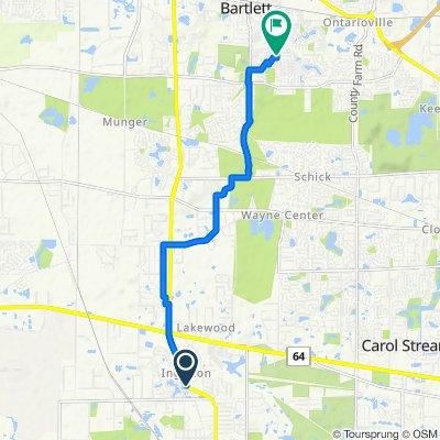 1161–1401 N Neltnor Blvd, West Chicago to 802 Prairie Ave, Bartlett