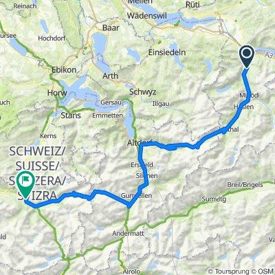 20/1. Etappe: Mollis - Meiringen, Klausen + Susten