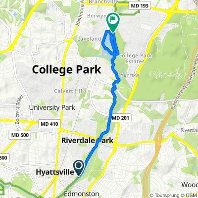 50th Avenue 5303, Riverdale Park to 55th Avenue 8200, College Park