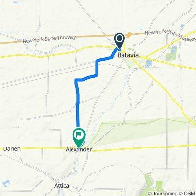 11 Union St, Batavia to 10543 Alexander Rd, Alexander