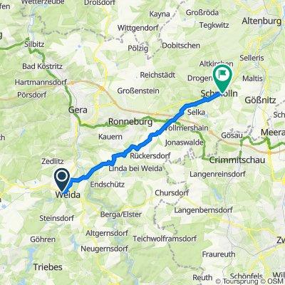 Straße der Frohen Zukunft 17A, Weida nach Karl-Marx-Straße 1/1–1A, Schmölln