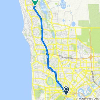 991 Hay Street, Perth to 420 Joondalup Drive, Joondalup