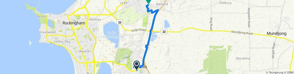 Safety Bay Road, Baldivis to 20 Goldsmith Drive, Wellard