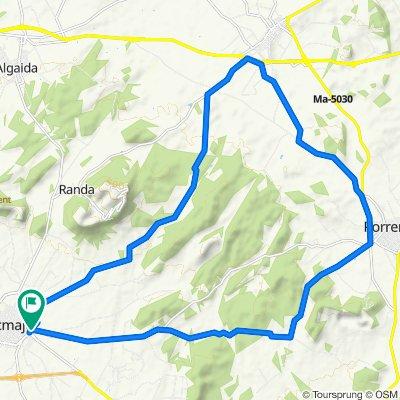 Mallorca: Llucmajor-Montuïri-Porreres-Llucmajor