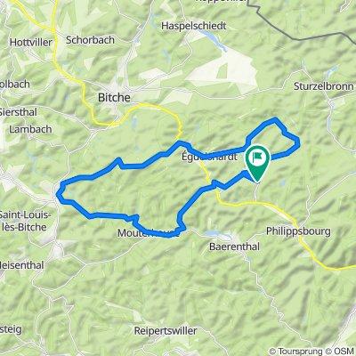 Lac de Hanau 38Km  440m