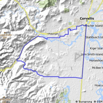 Cycling routes and bike maps in and around Corvallis Bikemap