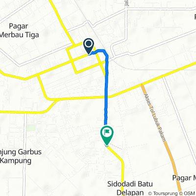 Jalan Doktor Sutomo 119, Kecamatan Lubuk Pakam to Jalan STM 2b, Kecamatan Lubuk Pakam