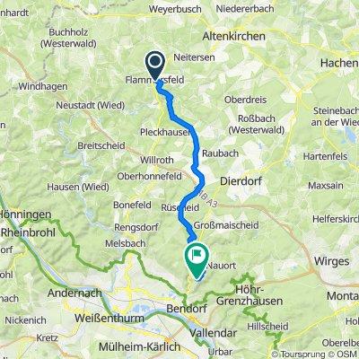Hubertussteig 12, Flammersfeld nach Cäcilie-Freisberg-Straße 49, Bendorf