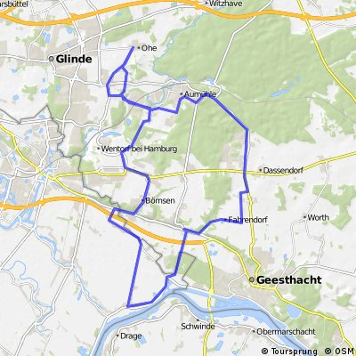 Runde: Ohe, Börnsen, Elbe, Fahrendorf, Ohe CLONED FROM ROUTE 88110