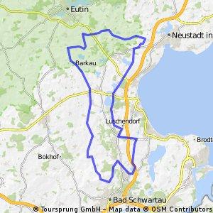 mittlere Trainingsrunde durch Ostholstein (ca. 60km)