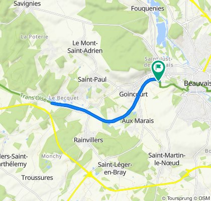 Relaxed route in Beauvais