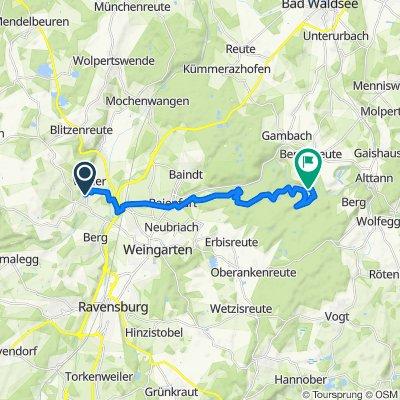 Einfache Fahrt in Wolfegg