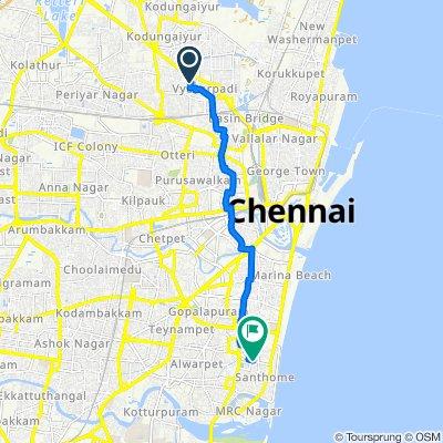 Gandhiji 2nd Street, Chennai to Kutchery Road, Chennai