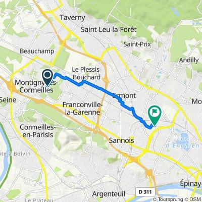 Moderate route in Eaubonne
