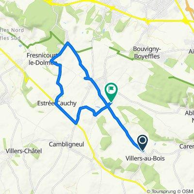 Itinéraire à grande vitesse en Villers-au-Bois