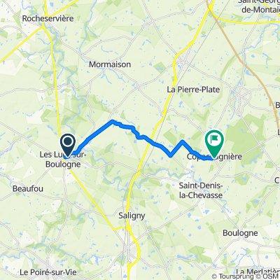 Moderate route in La Copechagnière