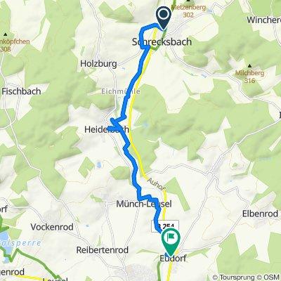 Holzburger Straße 2, Schrecksbach nach Ziegenhainer Straße 24, Alsfeld