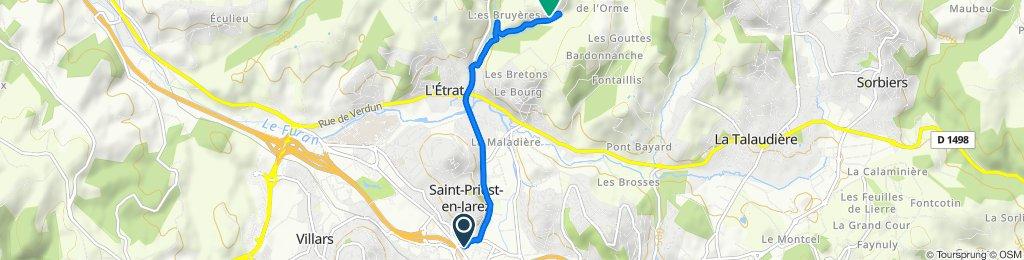 33 Rue de la République, Saint-Priest-en-Jarez to Route de Peyremartin, La Tour-en-Jarez