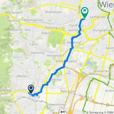 Route from Breitenfurter Straße 372A, Wien