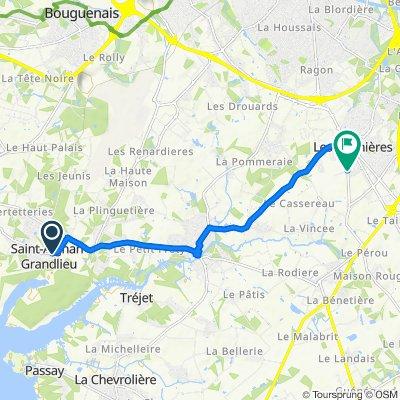 Itinéraire modéré en Les Sorinières