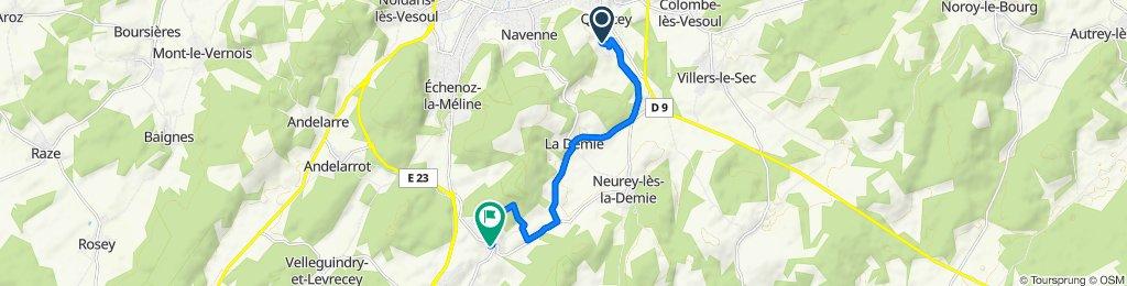 Moderate route in Vallerois-Lorioz