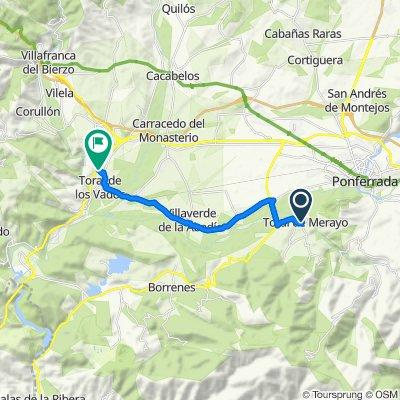 De Calle S.N.5 302, Toral de Merayo a Travesía Santalla de Oscos 24D, Toral de los Vados