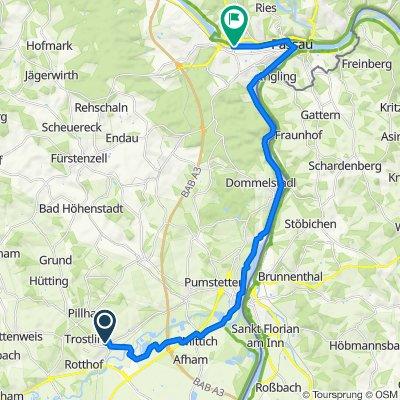 Ruhstorf nach Passau