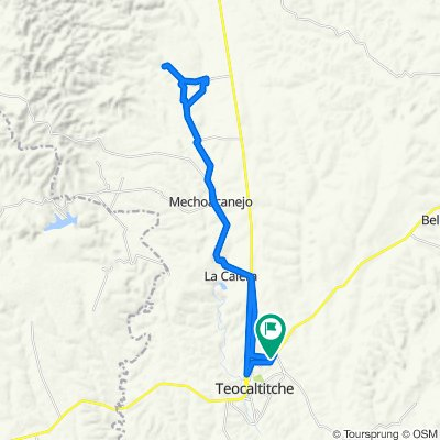 Calera, Mechoacanejo, San Isidro, Los Yañez, Tepusco, Presa de San Ignacio, Teocal.