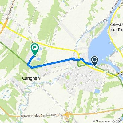 Restful route in Carignan