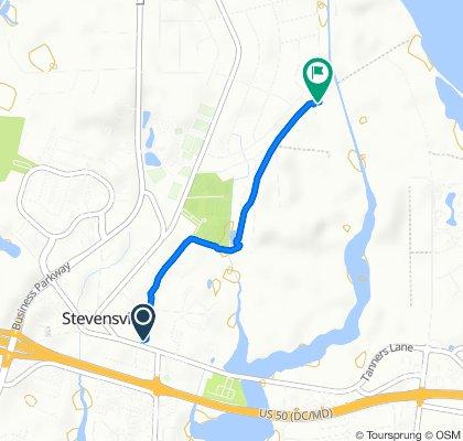Relaxed route in Stevensville