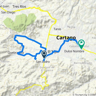 Relaxed route in Cartago