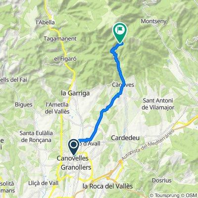 Ruta desde Calle de la Riera, Canovellas