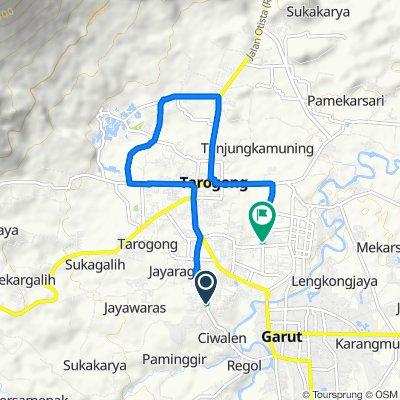Jalan Pembangunan 141, Kecamatan Tarogong Kidul to Jalan Proklamasi No.168 Kel, Kecamatan Tarogong Kidul