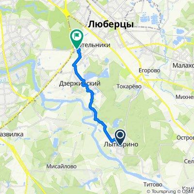 От Первомайская улица 6, Лыткарино до Московская Кольцевая Автомобильная дорога 14-й км, Москва