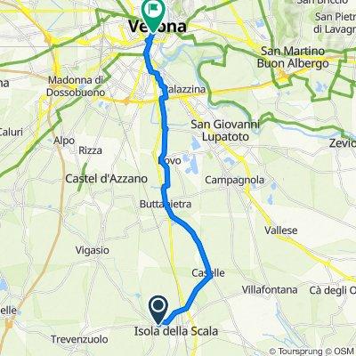 Da Via Tiro a Segno, Isola della Scala a Corso Porta Nuova 22A–34A, Verona
