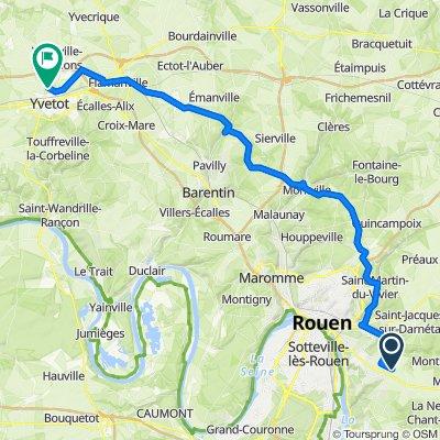 De 158 Rue du Mouchel, Franqueville-Saint-Pierre à 9 Rue du Chant des Oiseaux, Yvetot