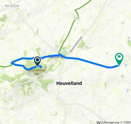 Restful route in Heuvelland