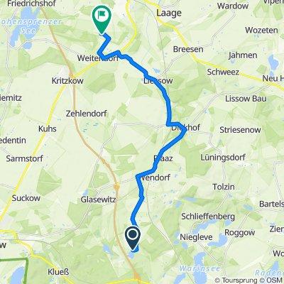 Am Hofsee 32, Lalendorf nach Flughafenstraße 1, Laage