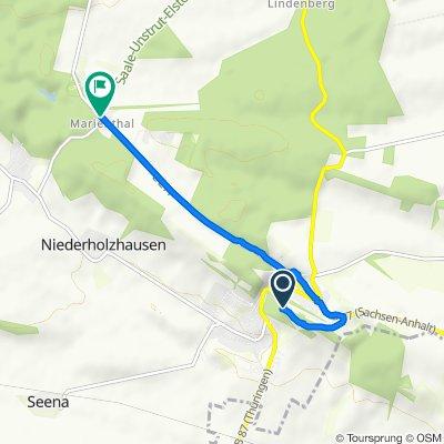 Gerade Fahrt in Eckartsberga